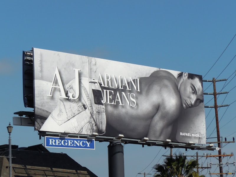Rafael Nadal Armani Jeans billboard