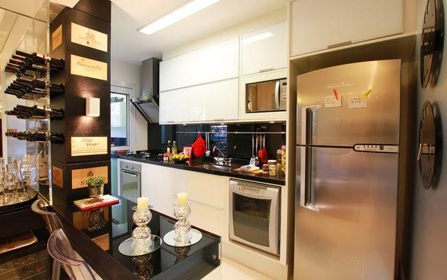 decoracao cozinha corredor:Cozinha corredor – veja lindos modelos para apartamentos + dicas de