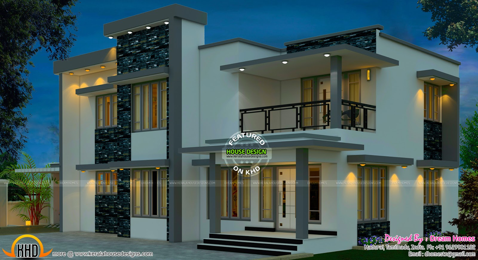 Beautiful south indian home design kerala home design for Home designs indian style