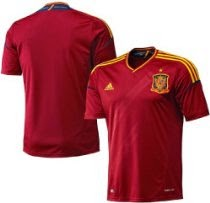 Spain Home Authentic Soccer Jersey 16 LargeRed