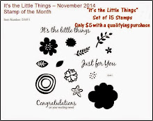 "The November Stamp of the Month is ""It's the Little Things"""