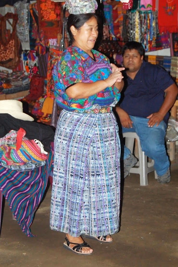 Mayan woman from Guatemala in traditional skirt