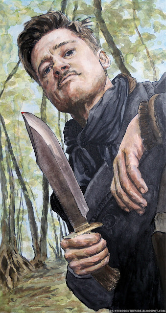 Inglourious Basterds art painting of Aldo Raine
