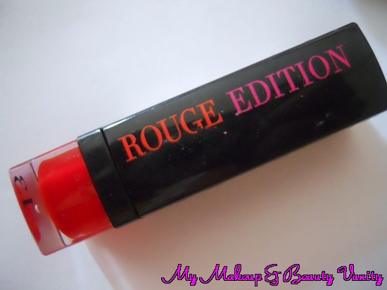 bourjois rouge edition lipstick 13 rouge jet set review and Swatch+bourjois lipstick+lipstick swatch and review+bourjois