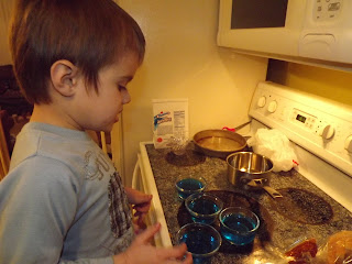 blue jello in cups