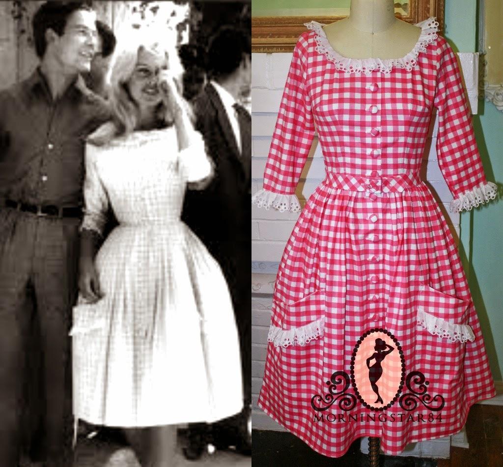 Brigitte Bardot s Gingham Wedding DressBrigitte Bardot Dress