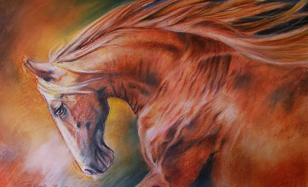 caballos-dibujos-al-oleo