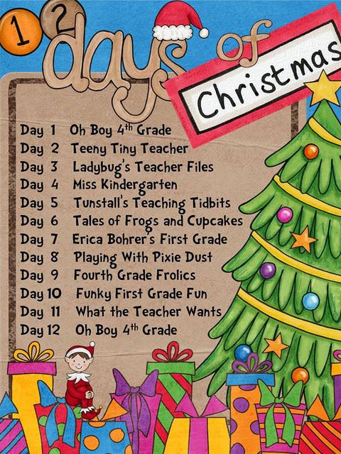 12 Days of Christmas {12 Giveaways!} - Ladybug's Teacher Files