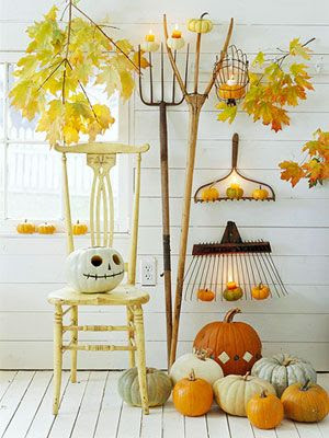 how to decorate for fall halloween, not scary