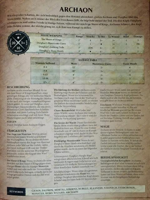Reglas para jugar con Archaón y Dorghar llegan en Age of Sigmar
