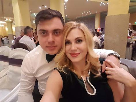 Raluca si sotul  Iulian Ghiorghita in Iasi...