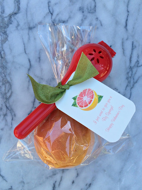 Grapefruit Citrus Valentine's Day Gifts | Easy and Pretty DIY with printable tags, I love giving healthy food as Valentines | www.jacolynmurphy.com