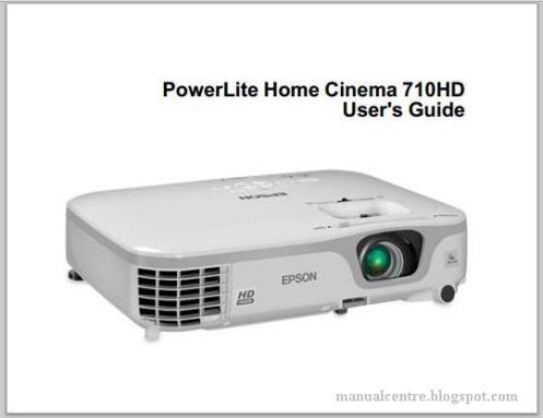 Epson PowerLite Home Cinema 710HD Manual