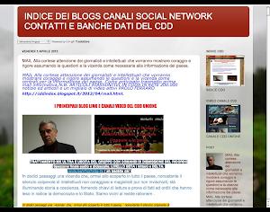 INDICE BLOGS SOCIAL NETWORK CANALI VIDEO E INDIRIZZI DEL CDD