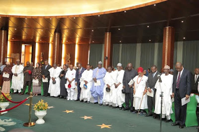 Buhari cabinet photos