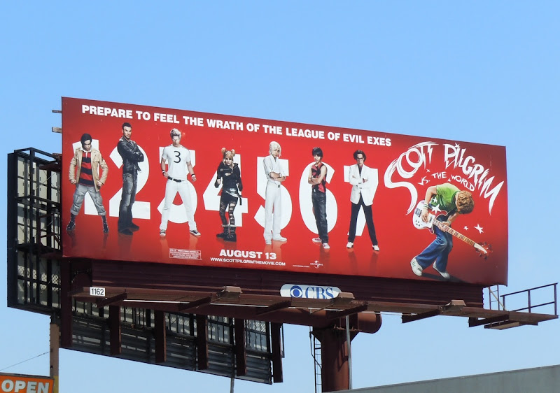 Scott Pilgrim Evil Exes billboard