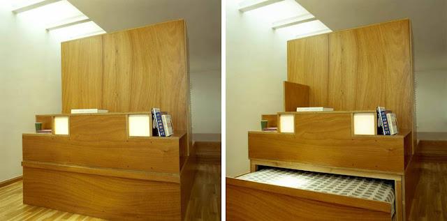 Casa en una maleta muebles plegables a medida espacios en for Medidas de muebles de una casa