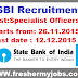 State Bank Of India Specialist officers Recruitment 2015
