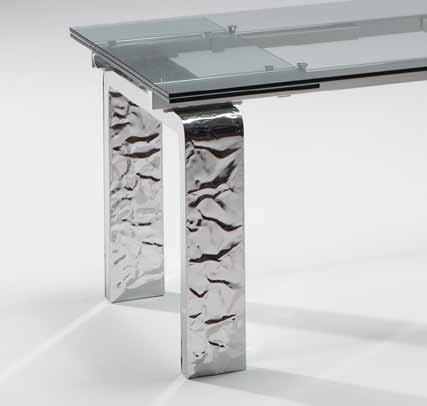 Domus arredi tavolo mito riflessi tavolo da pranzo for Tavolo cristallo allungabile riflessi