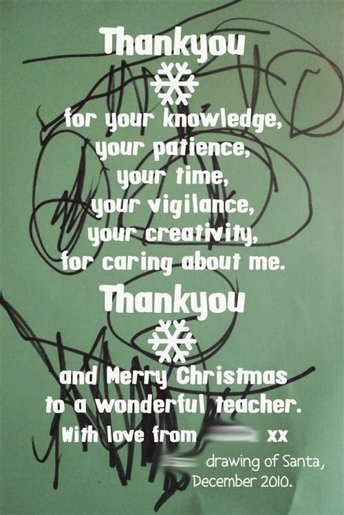 Free Merry Christmas 2013 Message For Teachers