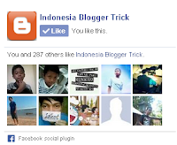 Facebook like box Blogger widget
