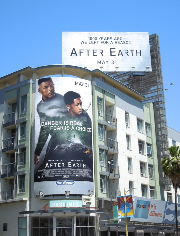 After Earth movie billboards