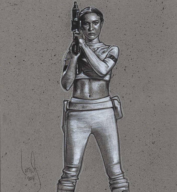 Padme Amidala, Artwork is Copyright © 2014 Jeff Lafferty