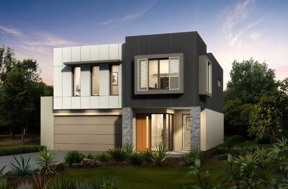 Dise o y planos de casas de dos pisos con ideas para for Fachadas duplex minimalistas