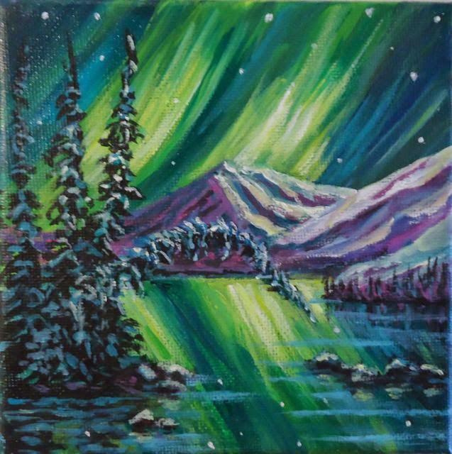 Merry Christmas everyone - Jackie Irvine's Landscape Art: Northern Lights Christmas Series