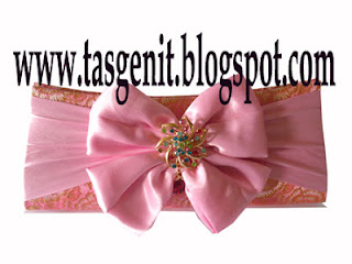 Tas pesta Clutch Bag Songket Salem Pink Dompet Pesta