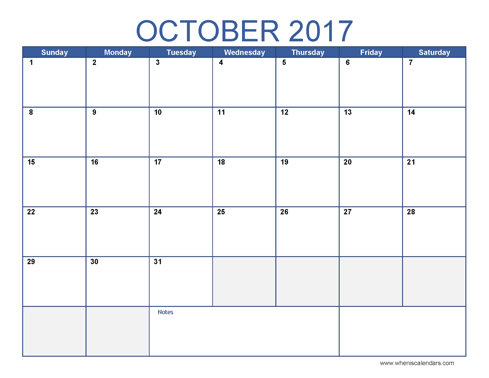 october 2017 template