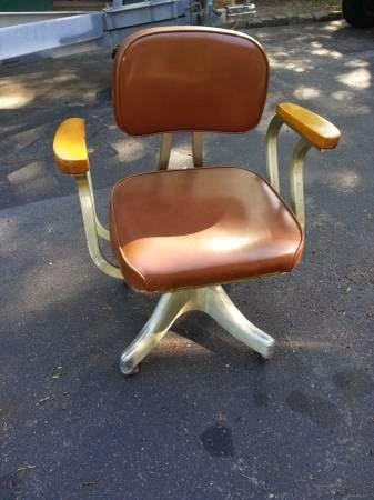 Nice Vintage MCM Swivel Desk Chair Aluminum South Coast http boston craigslist org gbs fuo html
