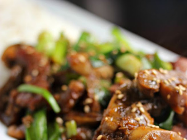Easy Mongolian Beef with Mushrooms