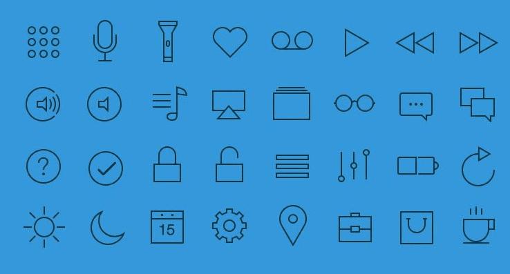 32 Free UI Icons (AI,PSD)