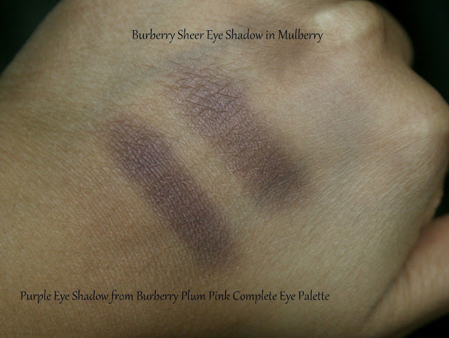 Burberry Complete Eye Palette in Plum Pink Compared to Burberry Mulberry