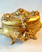 Antique Rose Gilt Wash Jewel Box