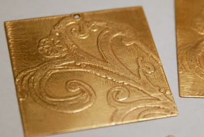 Etching adventures in brass: Step #3 - cleaned and ready for patina :: All Pretty Things