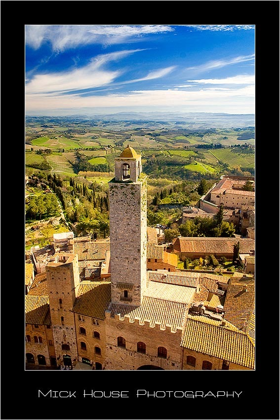 One of the many towers of San Gimignano