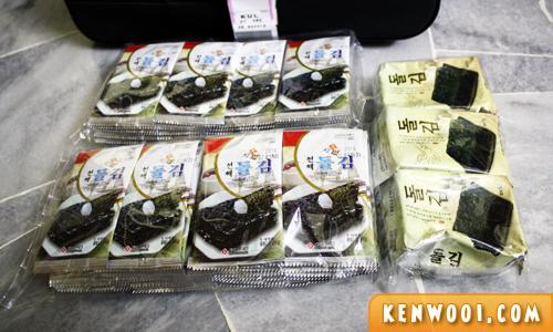 korea souvenir seaweed