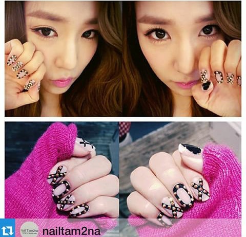 nail art picture of kpop