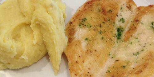Pollo a la plancha con Pure y verduras