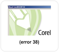 Corel Draw error 38