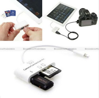 3 in 1 USB Camera Connection Kit Memory Card Reader Adapter For iPad 4/Mini/Air