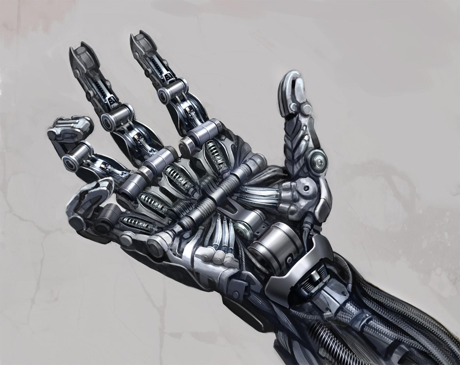 Jim martin concept art mechanical hand for Martin metal designs