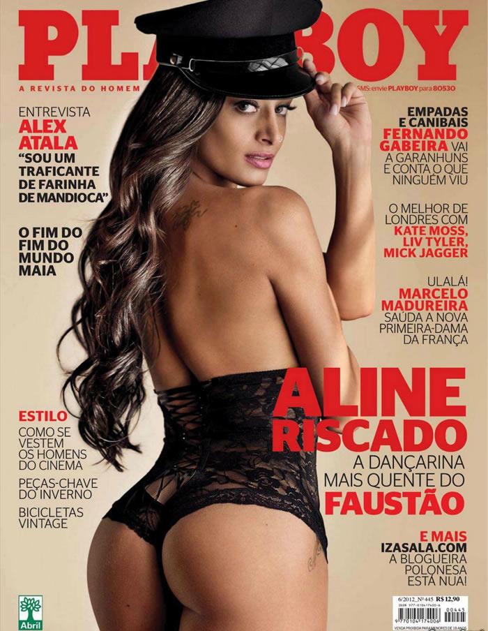 Bailarina Aline Riscado ensaio da revista Playboy