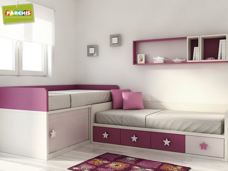 Muebles juveniles dormitorios infantiles y habitaciones - Habitaciones de dos camas juveniles ...