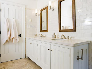 White Beadboard Bathroom