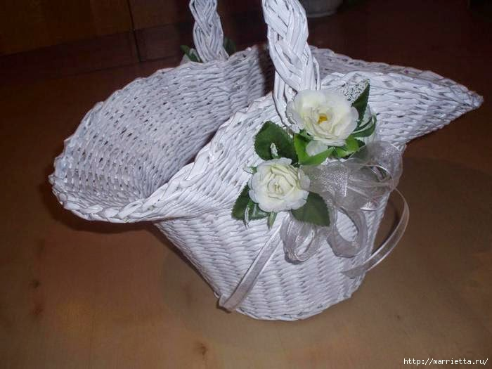 DIY Newspaper Flower Basket Tutorial
