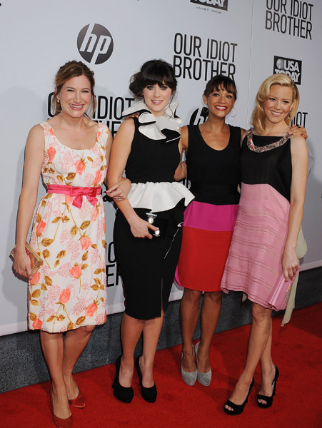 Actresses Kathryn Hahn, Zooey Deschanel, Rashida Jones, And Elizabeth