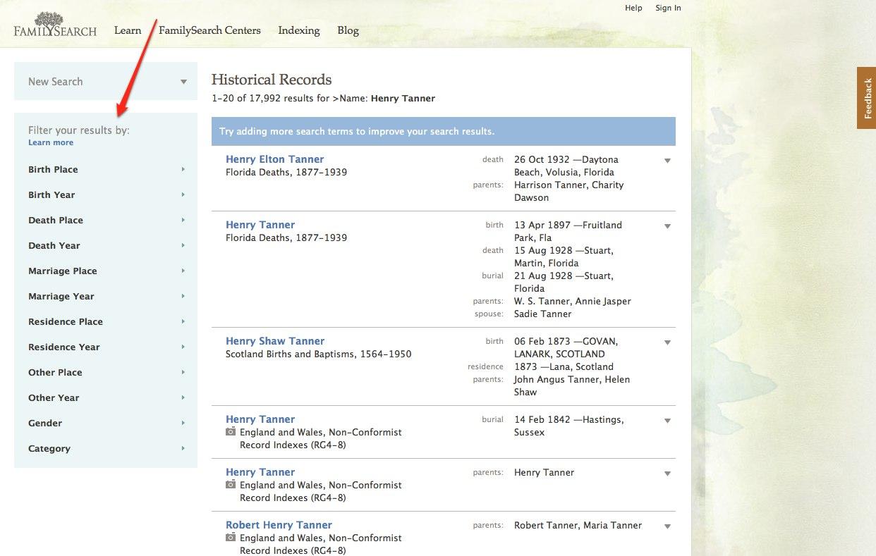 Genealogía Buscar - Historia Family Records
